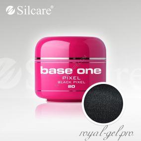 Цветной гель Silcare Base One Pixel Black Pixel *20 5 гр.