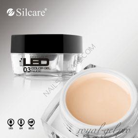 Цветной гель Silcare High Light Led Color Clear Nude *03 4 гр.