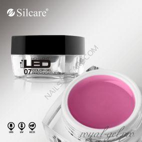 Цветной гель Silcare High Light Led Color Clear Provocative Pink *07 4 гр.
