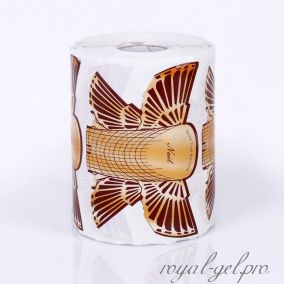 """Форма для моделирования ногтей широкая """"Орел"""" коричневая 300 шт."""
