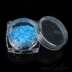 Снежные хлопья дизайн для ногтей, цвет синий