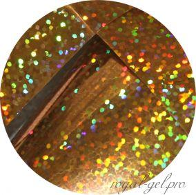 Фольга для литья и кракелюра 32 Royal золото голографический дождь