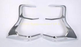 Хромированные накладки на заднию оптику Тип 1 для Toyota Land Cruiser Prado 150 2017 -