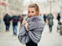 Меховой палантин купить из чернобурки фото