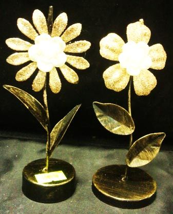 Визитница Цветок (15 см, металл)