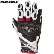Мотоперчатки Spidi X-4 Coupe, Черно-бело-красные