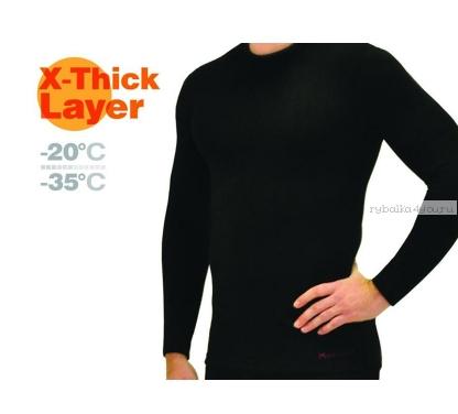 Купить Фуфайка мужская Mottomo X-Thick Layer цвет: черный