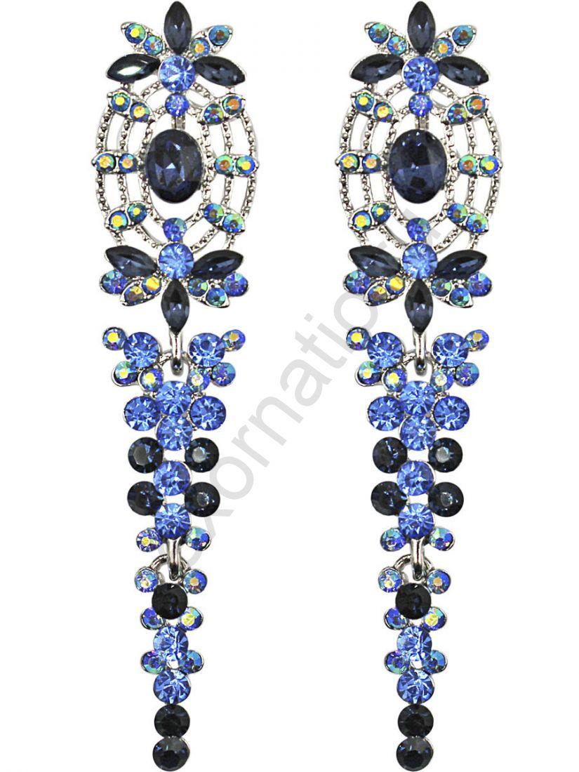 Серьги Taya LX T-B-11273 EARR SL.D.BLUE