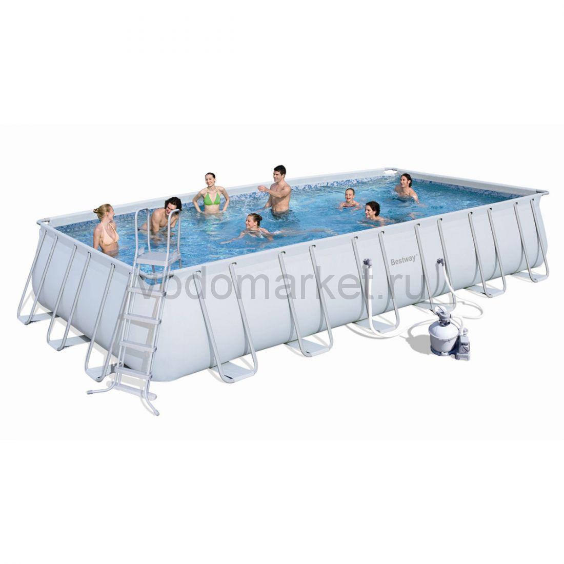 732х366х132 см (56279) Bestway Каркасный прямоугольный бассейн