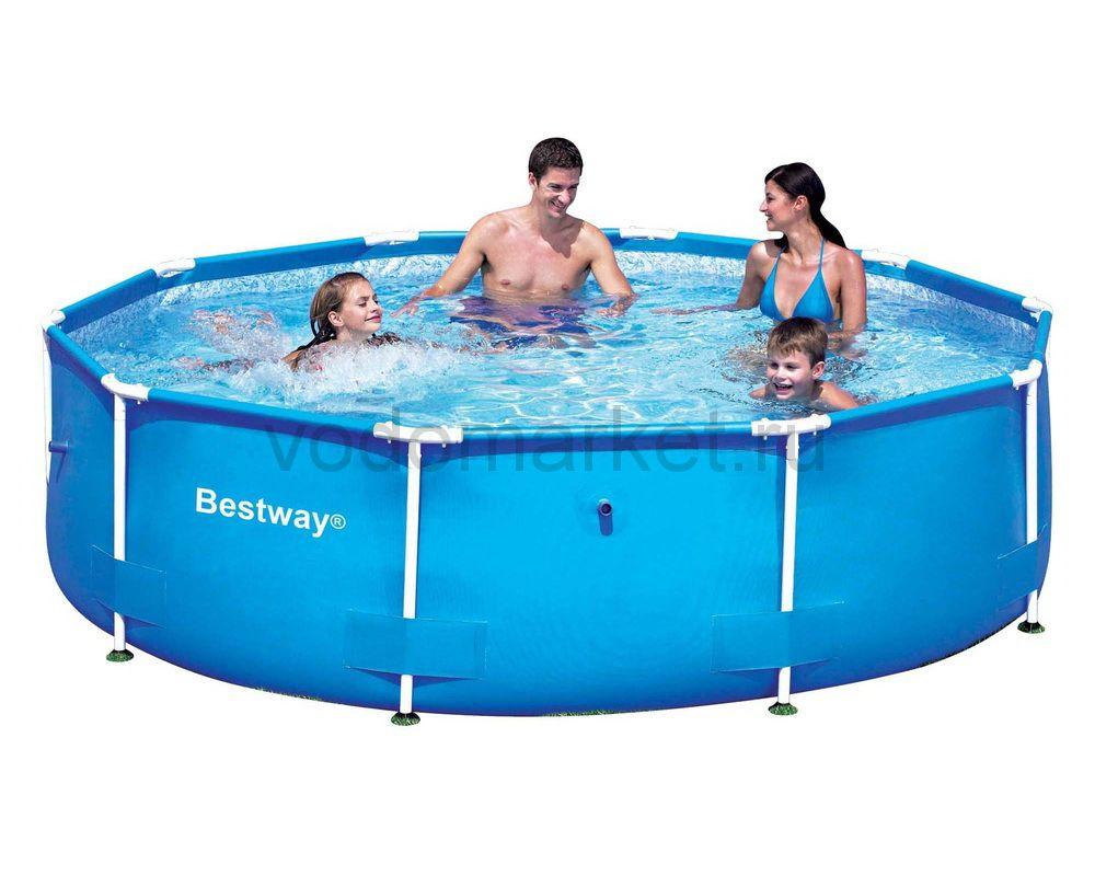 305х76 см (56406) Bestway Каркасный круглый бассейн