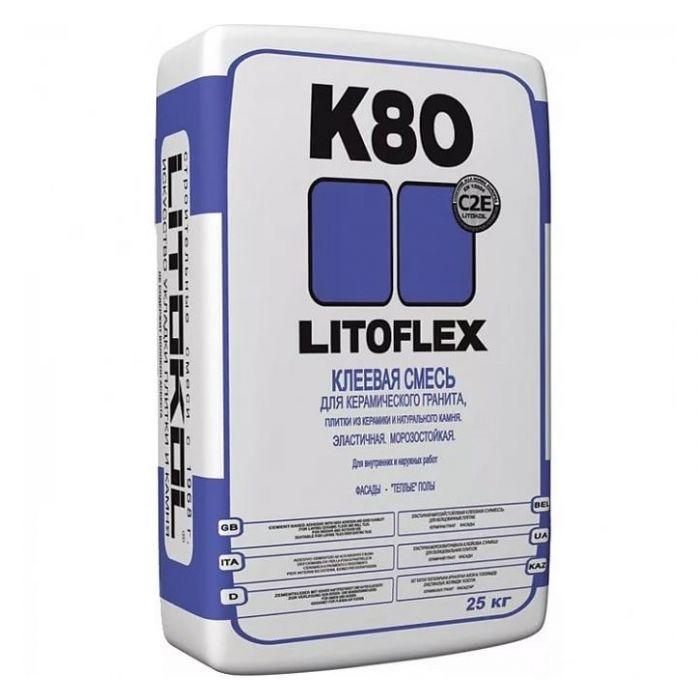 Клей для плитки Litokol Litoflex К 80, 25 кг