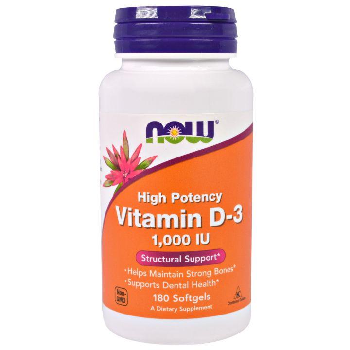 Now Foods, Витамин D3,  2,000 МЕ, 120  капсул