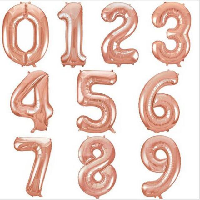 Цифра розовое золото