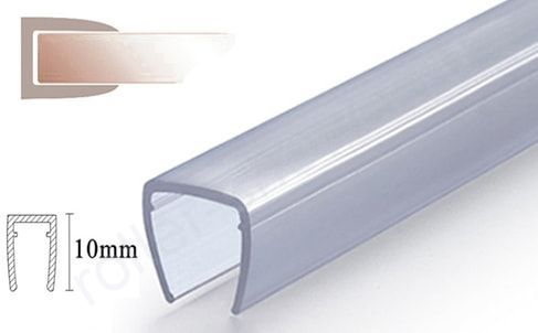 П-образный Уплотнители для душевых кабин, толщина стекла (4,5,6,8мм) длина 2 метра
