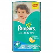 Pampers Active Baby 9-16кг, 62шт (4+)