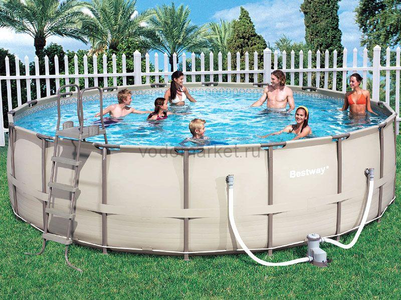 549х132 см (56185) Bestway каркасный бассейн бежевый