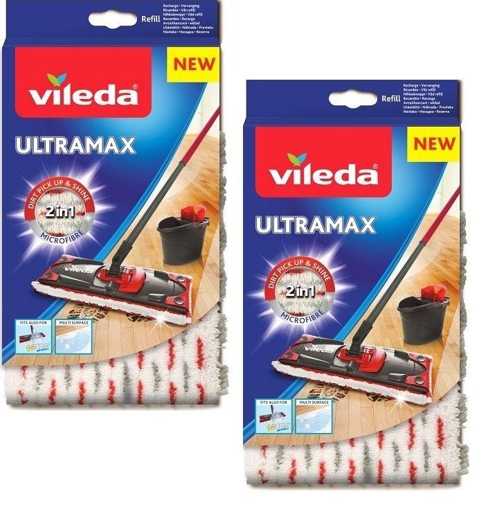 2 запасных мата для швабры Vileda Ultramax (Ultramat)
