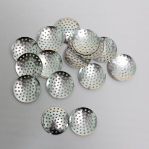 "Основа ""Ситечко"", размер 25 мм, цвет: серебро (1уп = 50шт)"