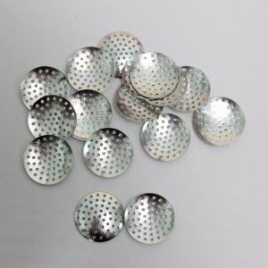 """`Основа """"Ситечко"""", размер 25 мм, цвет: серебро"""