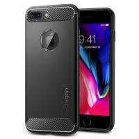Чехол Spigen Rugget Armor для iPhone 8 Plus черный