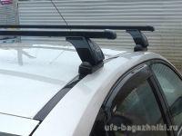 Багажник на крышу BMW 3-serie E91, Lux, прямоугольные стальные дуги