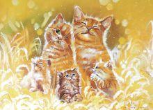 Почтовая открытка Счастье быть семьей