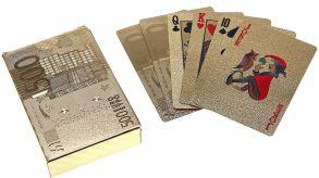 """Карты игральные """"500 Евро"""", золотистые, 54 шт"""