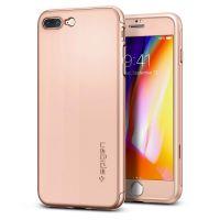 Чехол Spigen Thin Fit 360 для iPhone 8 Plus розовое золото