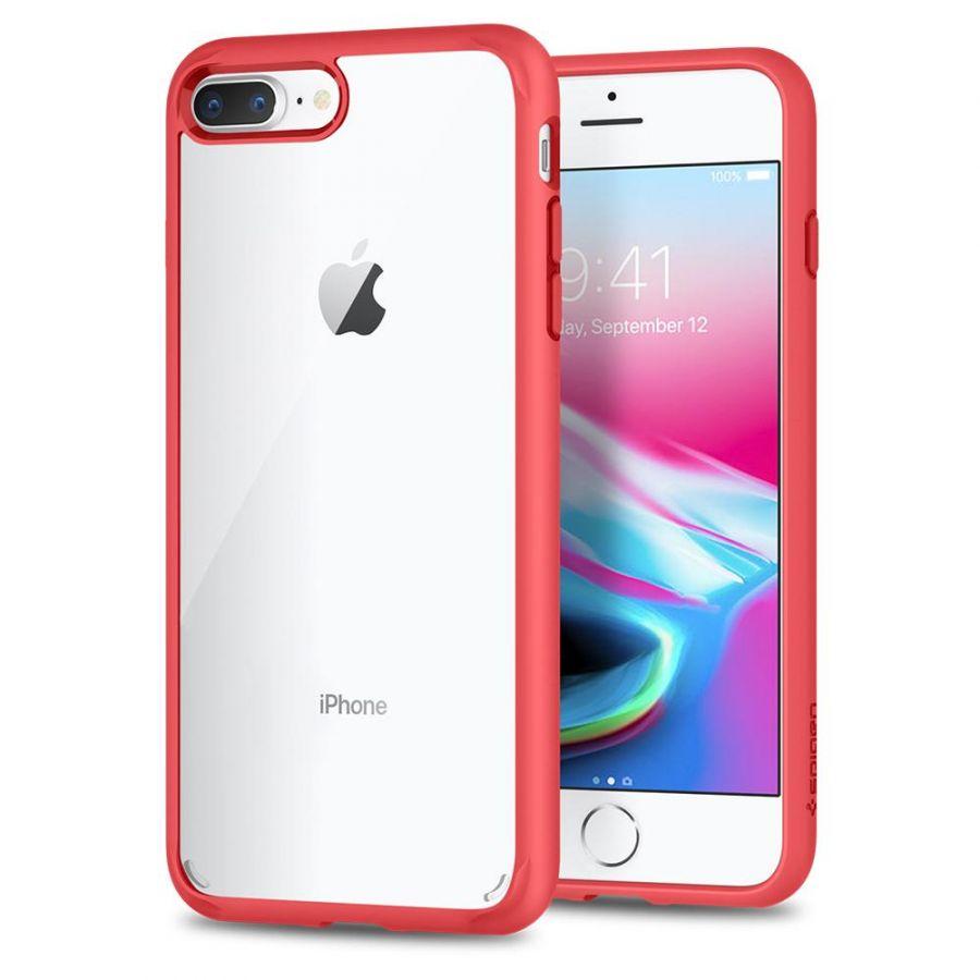 Чехол Spigen Ultra Hybrid 2 для iPhone 8 Plus красный
