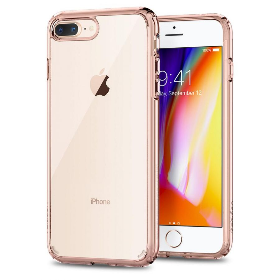 Чехол Spigen Ultra Hybrid 2 для iPhone 8 Plus кристально-розовый
