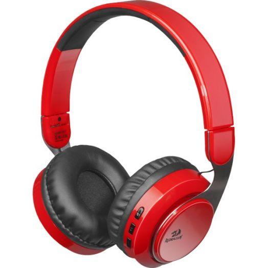 Мониторные наушники беспроводные Redragon Sky Bluetooth красные