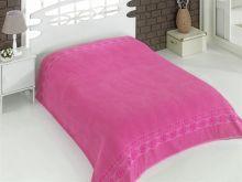 "Простыня махровая ""KARNA"" REBEKA 160x220 см (розовая) Арт.2654-5"