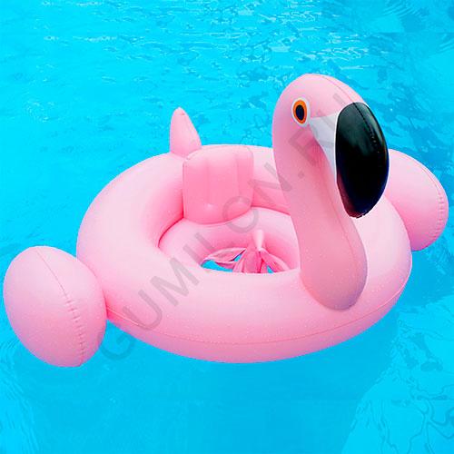 Надувной детский круг ФЛАМИНГО Baby Inflatable Swan