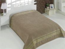 """Простыня махровая """"KARNA"""" REBEKA 160x220 см (кофейная) Арт.2654-14"""