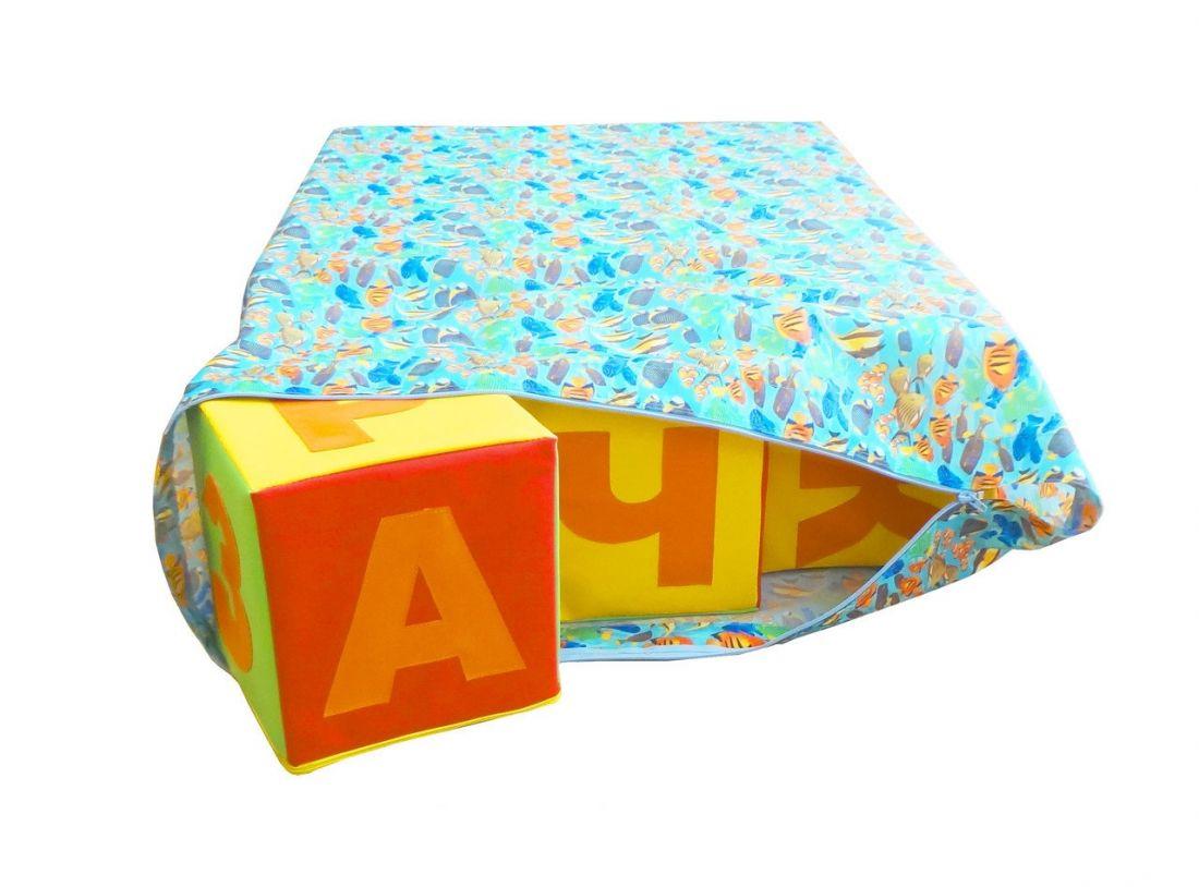 Набор кубиков Азбука, 12шт в сумке