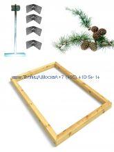Фундамент 2,7 x 12 лиственница строганный сухой брус 100 х 100 мм