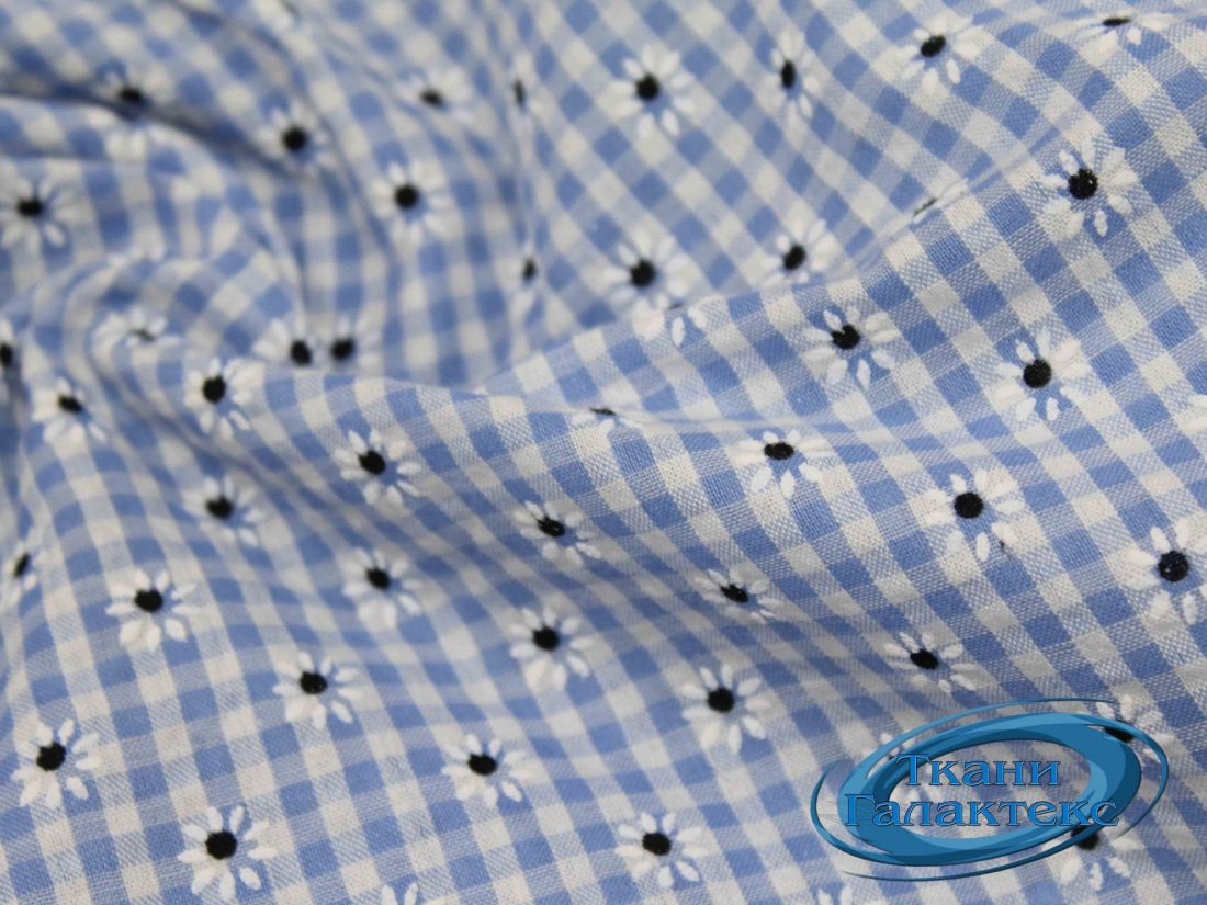 Рубашечная ткань клетка принт VT-9825/D2/C#1