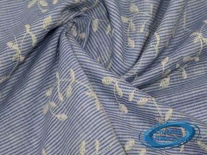 Рубашечная ткань полоска вышивка VT-9830/D2/C#2