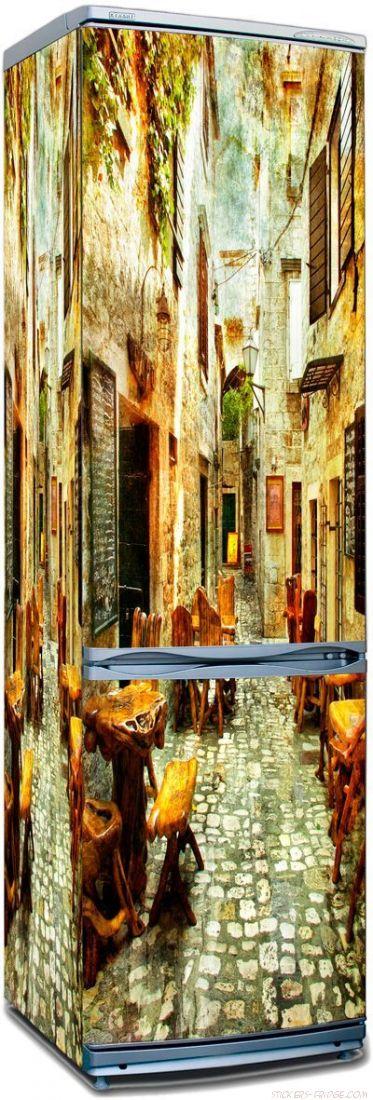 наклейки на холодильник - старые улочки Греции 1