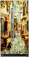 Наклейки на холодильник - старые улочки Греции 1 купить в магазине Интерьерные наклейки