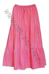 Бело-розовая юбка с воланами