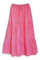 Длинная бело-розовая юбка, купить в интернет магазине недорого