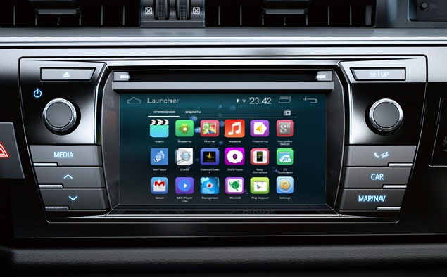 Навигационный блок на системе Android 8 для Toyota Corolla 2013+