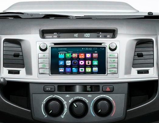 Навигационный блок на системе Android 4.4.4 для Toyota Hilux 2014-2015