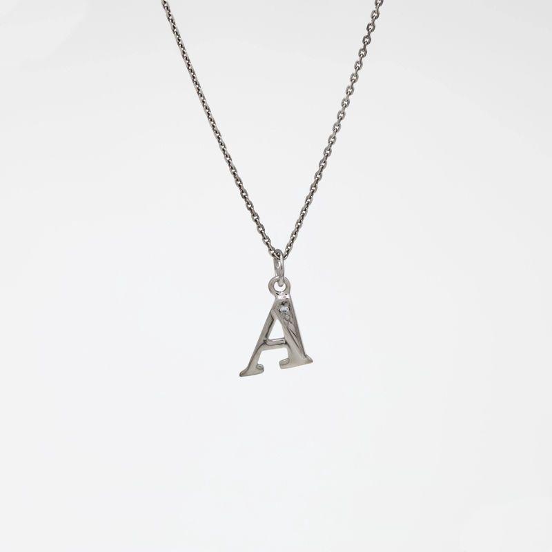 """Подвеска серебряная """"А"""""""