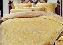 Комплект постельного белья Сатин-жаккард с вышивкой семейный  Арт.J010/49