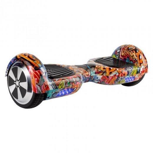 Гироскутер Smart Balance Wheel 6.5 APP Самобаланс граффити оранжевый