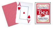 Игральный карты Bee Poker Jumbo Index (цвет рубашки на выбор)