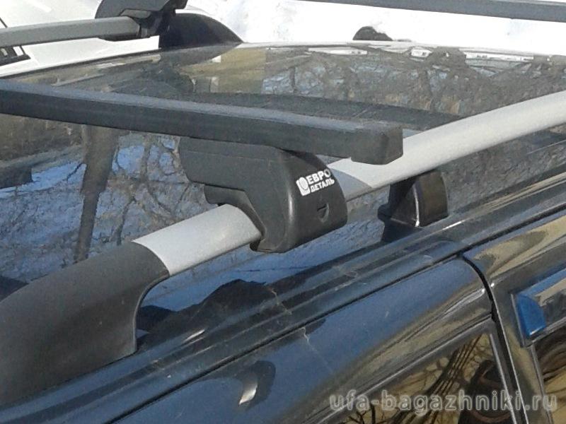 Багажник на крышу - стальные прямоугольные дуги на рейлинги Лада Приора, Евродеталь
