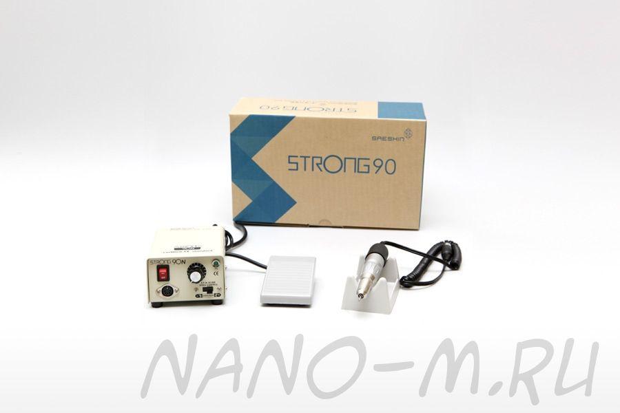 Аппарат Strong 90/120 для маникюра с педалью в коробке